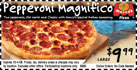 Marco's Pizza has the original Italian pizza taste that everyone loves! If you didn't try their dishes, I strongly recommend you do right now! Plus, you can use this coupon code to receive $5 discount on any purchases exceeding $20! Too good to miss!/5.