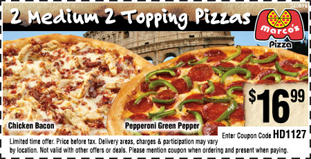 Marco's pizza coupons may 2018