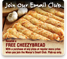 Join The Marco's Email Club